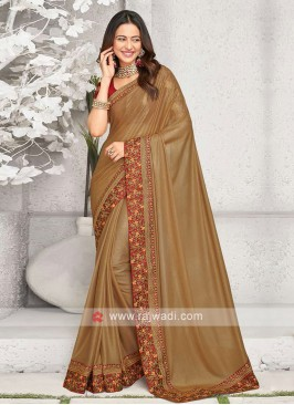 Rakul Preet Singh Golden Brown Saree