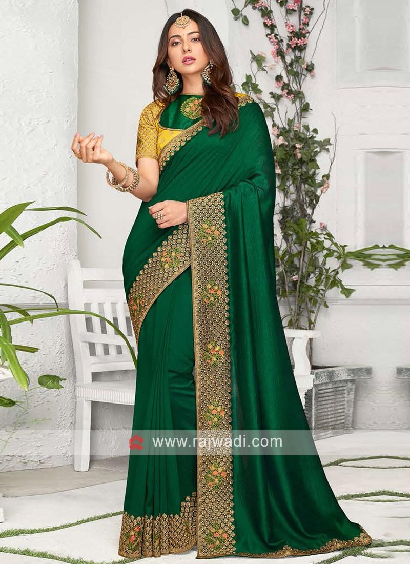 Rakul Preet Singh Green Saree