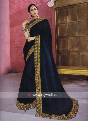 Rakul Preet Singh in Art Silk Border Work Saree