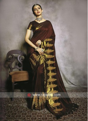 Rakul Preet Singh in Dark Maroon Saree