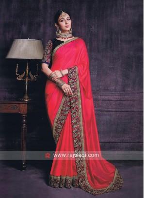 Rakul Preet Singh in Deep Pink Saree