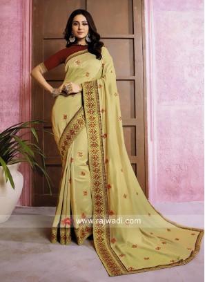 Rakul Preet Singh in Golden Cream Saree