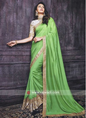 Rakul Preet Singh in Pista Green Saree