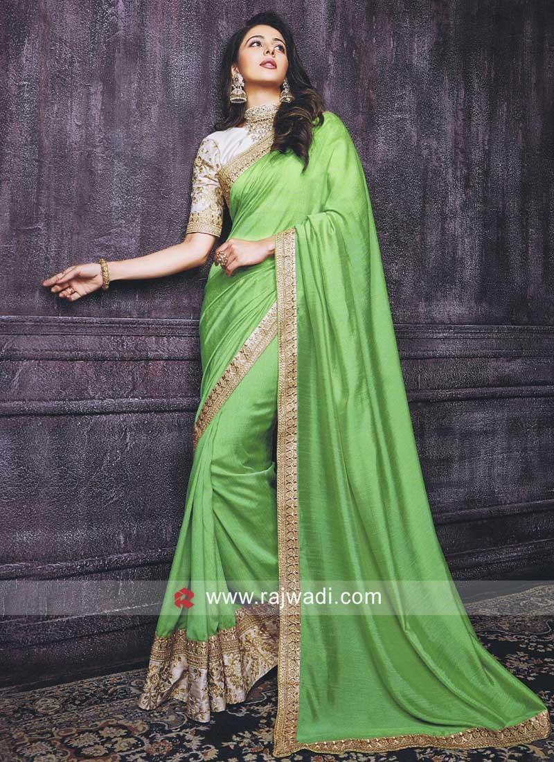 Rakul Preet Singh in Pista Green Saree