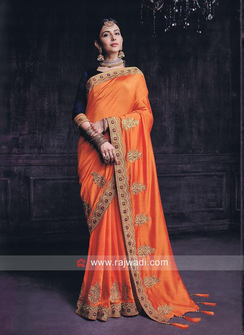 Rakul Preet Singh Orange Saree