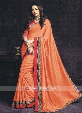 Rakul Preet Singh Plain Border Work Saree
