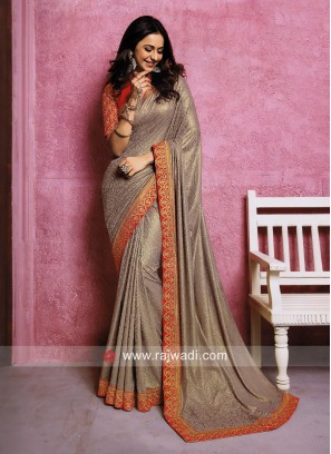 Rakul Preet Singh Plain Saree with Border