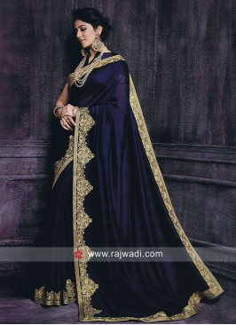 Rakul Preet Singh Saree in Dark Navy Blue