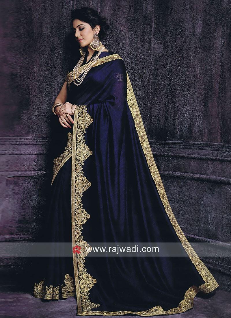 Rakul Preet Singh Saree in Dark Navy Blue