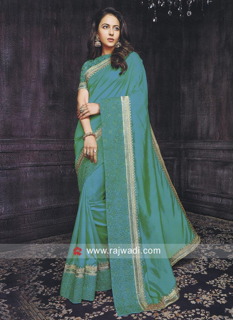 Rakul Preet Singh Saree in Sea Green