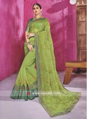 Rakul Preet Singh Tissue Silk Saree with Blouse
