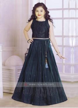 Rama Blue Color Choli Suit