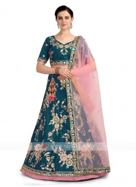 Rama Blue Color Lehenga Choli