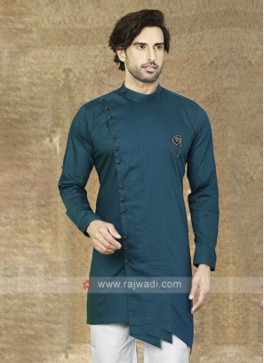 Rama Blue Cotton Kurta