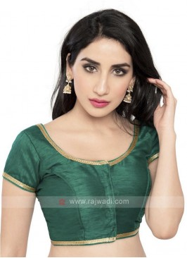 Rama Green Brocade Ready Blouse