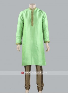 Rama Green Color Kurta Pajama