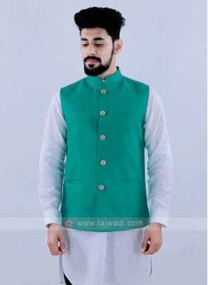 Rama Green Color Nehru Jacket