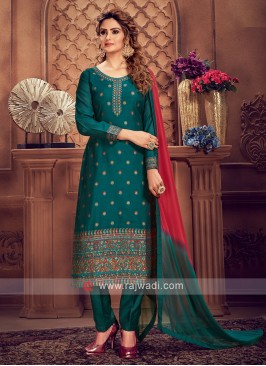 Rama Green Color Pant Style Suit