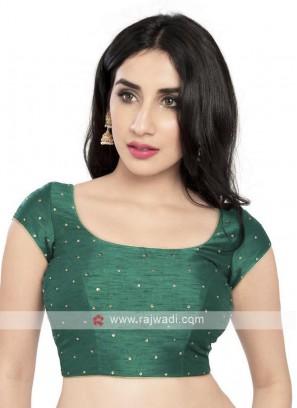 Rama Green Color Ready Blouse