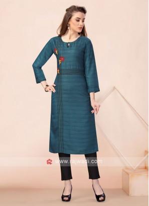 Rama Green Formal Kurti For Office Wear
