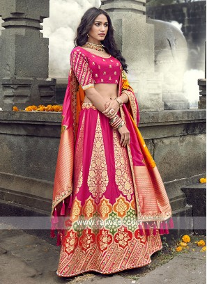 Rani color lehenga choli