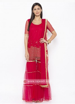 rani color garara suit