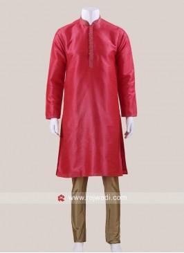 Rani Color Kurta Pajama