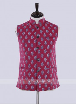 Rani color printed nehru jacket