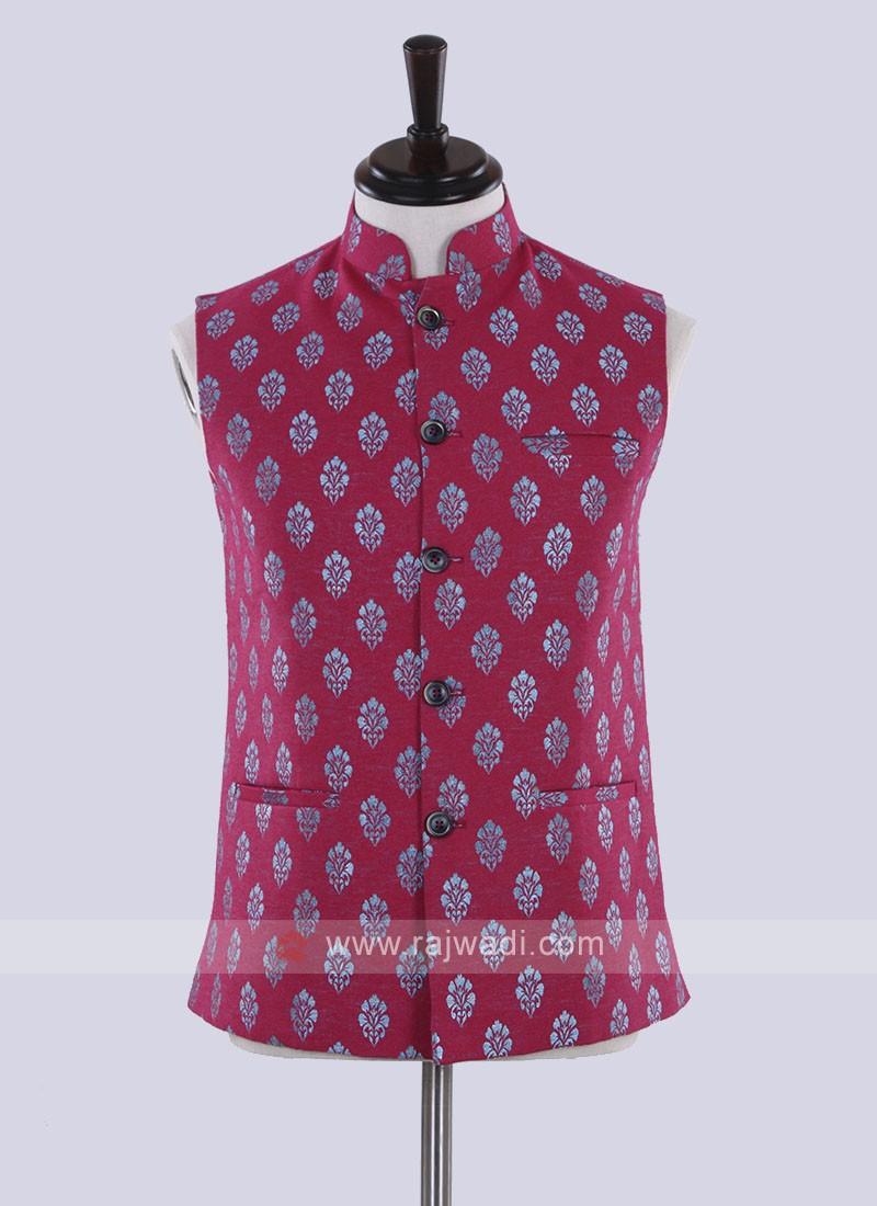 Rani color printed nehru jacket