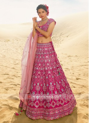 Rani color silk choli suit