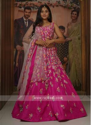 Rani Color Silk Choli Suit