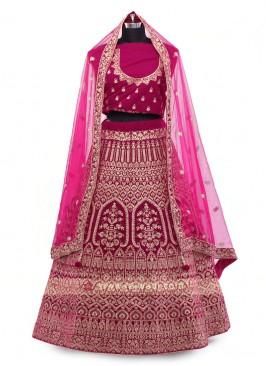 Rani Color Velvet Lehenga Choli