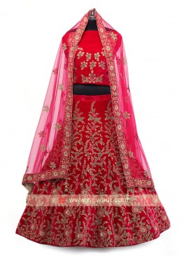 Rani Color Velvet Lehenga Choli
