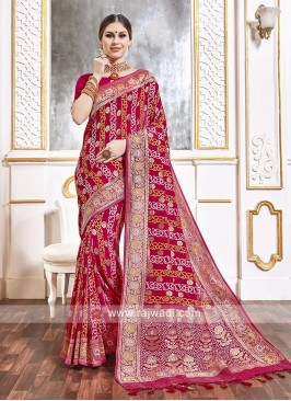 Rani Color Viscose Saree