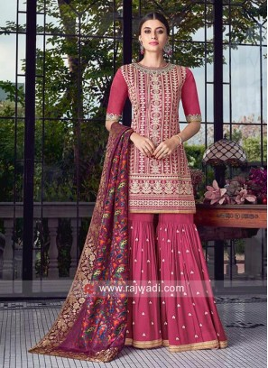 Rani Embroidered Gharara Suit
