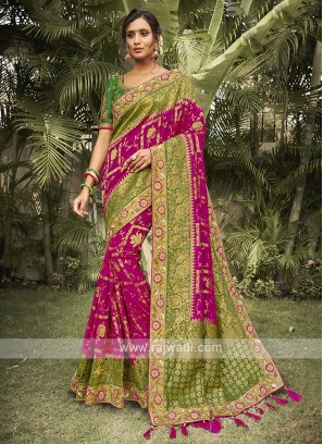 Rani & Green Silk Saree