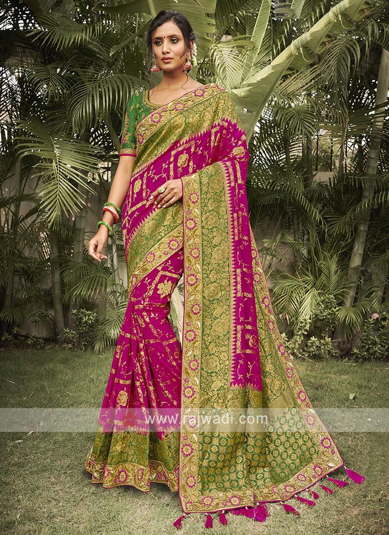 Rani & Green Silk Saree