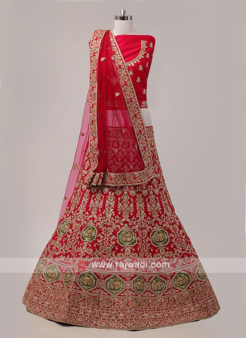 Rani Silk Bridal lehenga Choli