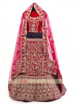Rani Velvet Lehenga Choli