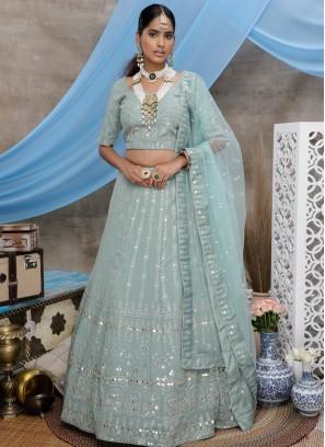 Ravishing Embroidered Trendy Lehenga Choli