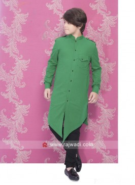 Ravishing Green Pathani Suit