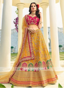 Raw Silk and Art Silk Lehenga Choli
