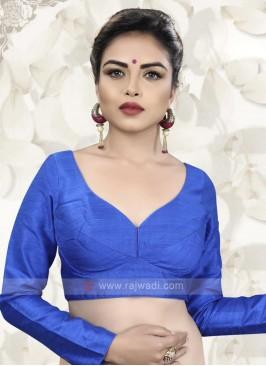 Raw Silk Blue Ready Choli