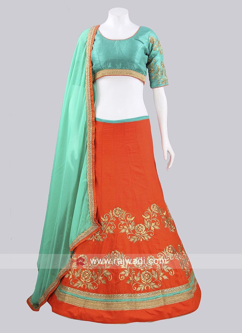 Raw Silk Chaniya Choli