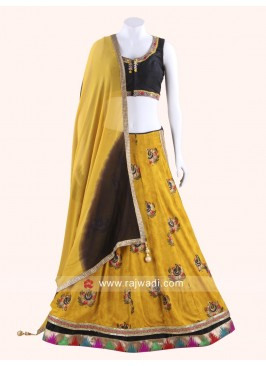 Raw Silk Chaniya Choli with Chiffon Dupatta