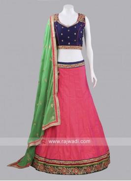 Raw Silk Chaniya Choli with Dupatta