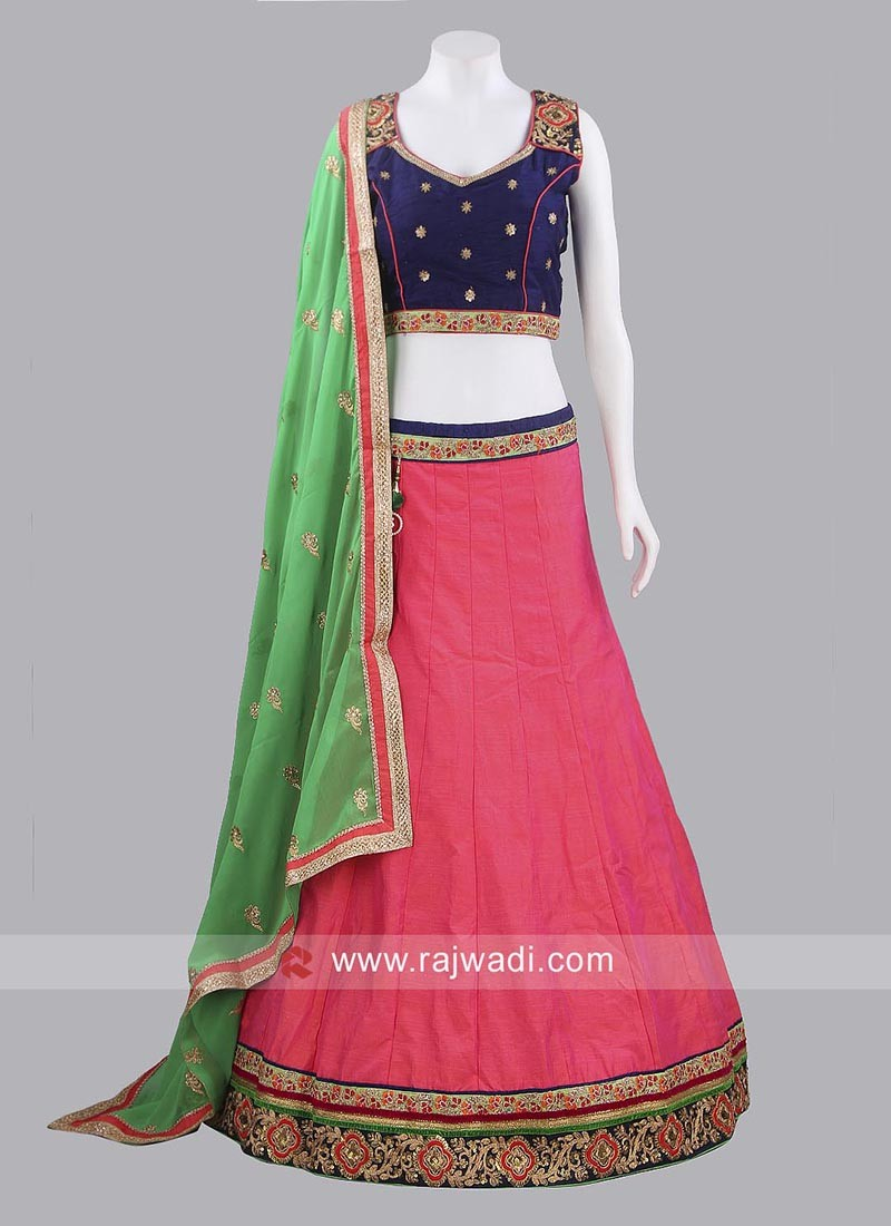 Raw Silk Chaniya Choli with Dupatta