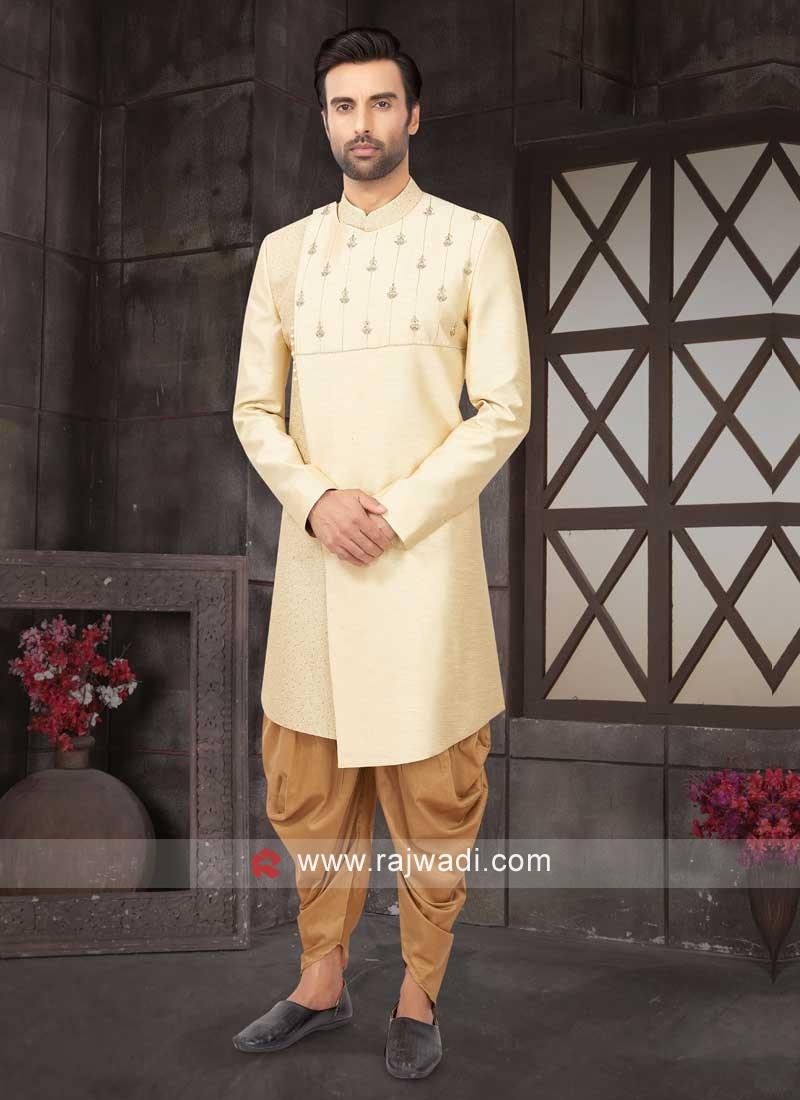 Raw Silk Cream Color Indo-Western