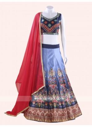 Raw Silk Designer Chaniya Choli