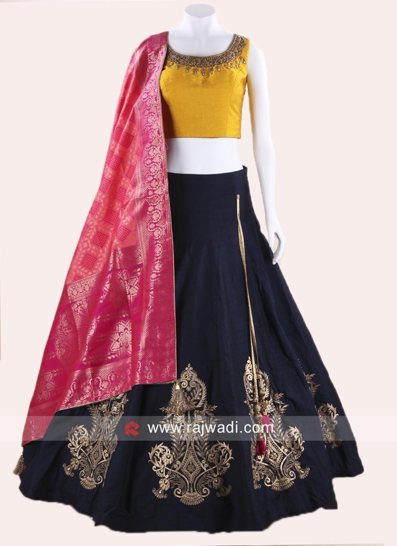 430bfeb73d90ac Raw Silk Designer Lehenga Choli. Hover to zoom